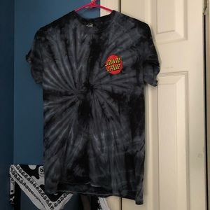 santa cruz tie dye t shirt